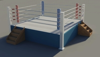 Boxing ring medium resolution 3D Model