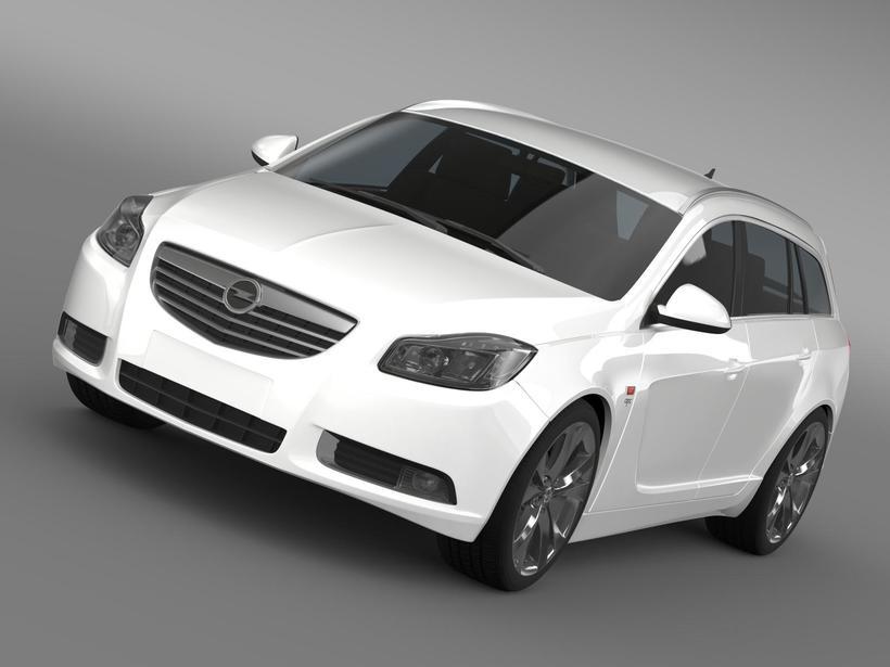 Opel Insignia OPC Line Sports Tourer 2013 3D Model