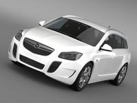 Opel Insignia OPC Sports Tourer 2013 3D Model