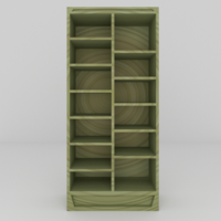 Free Simple Bookcase 3D Model