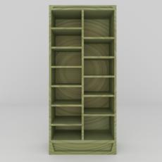 Simple Bookcase 3D Model