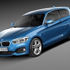 BMW 1-Series 5-door M Package 2016 3D Model