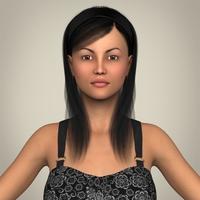 Realistic Pregnant Woman 3D Model