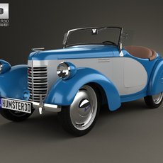 American Bantam Model 62 Deluxe Roadster 1939 3D Model