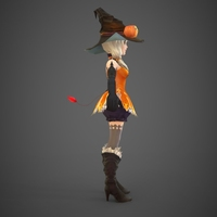 Toon character Jerica 3D Model