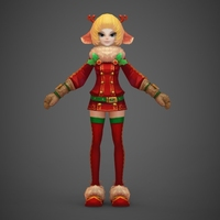 Toon character Joya 3D Model