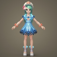 Toon character  Keely 3D Model
