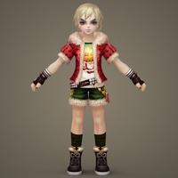 Toon character  Krishten 3D Model