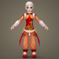 Toon character Luster 3D Model