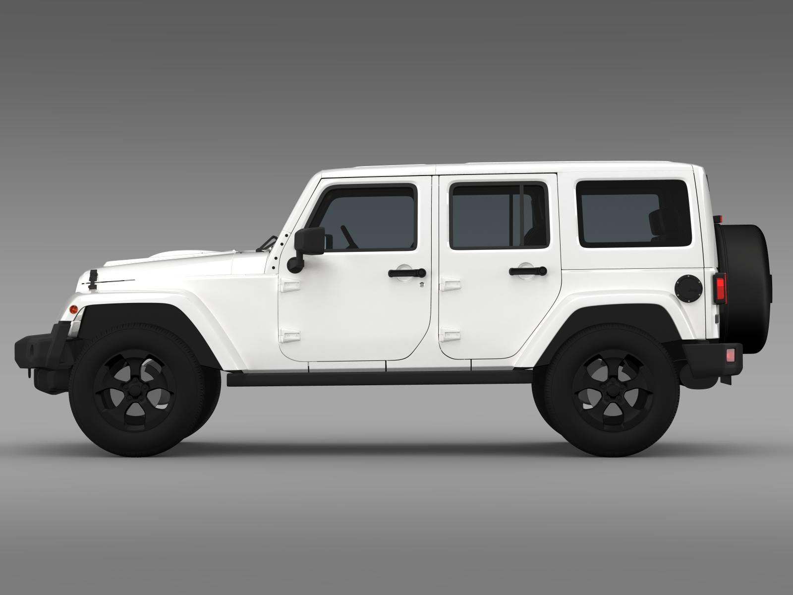 jeep wrangler black edition 2 2015 3d model. Black Bedroom Furniture Sets. Home Design Ideas