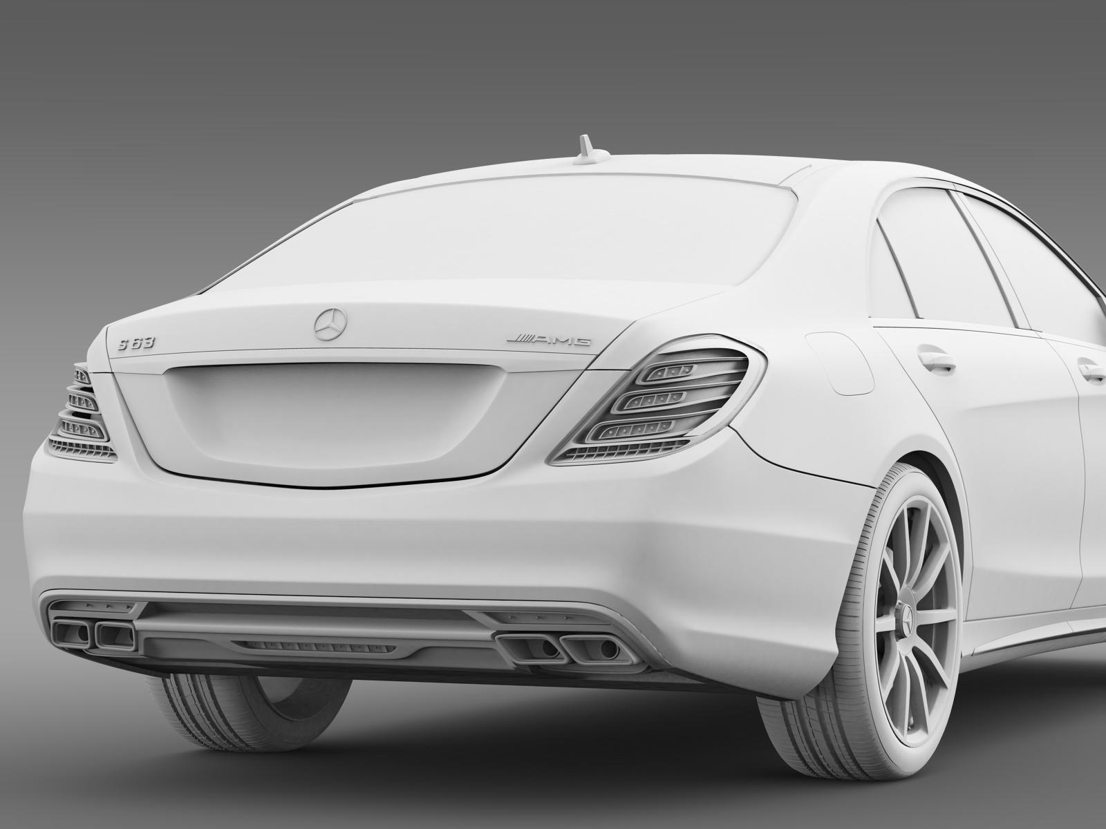 Mercedes benz s 63 amg w222 2013 3d model for Different models of mercedes benz
