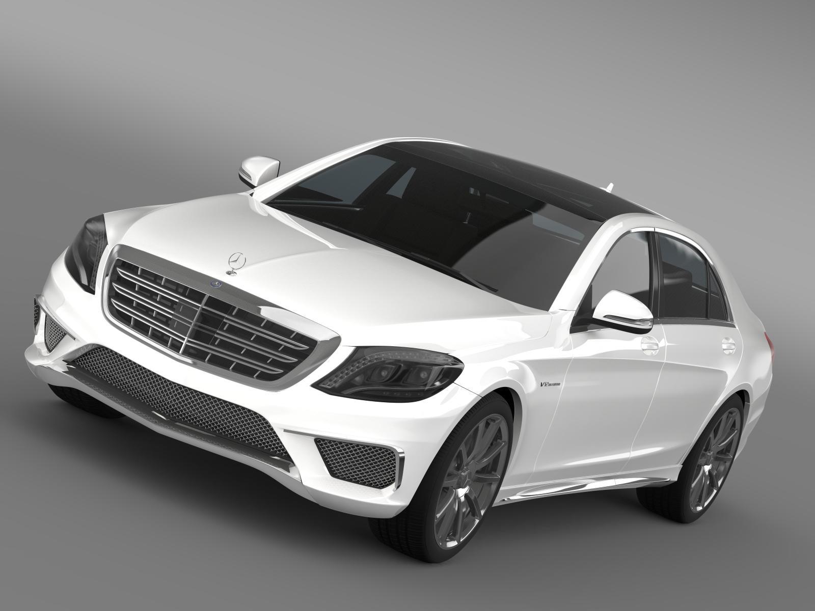 Mercedes benz s 65 amg w222 2014 3d model for Mercedes benz 65 amg