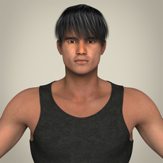 Realistic Muscular Handsome Guy 3D Model