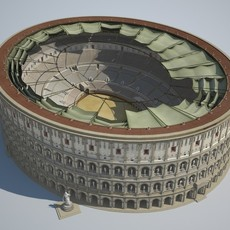 Colosseum New Undamaged 3D Model