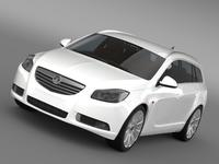 Vauxhall Insignia 4x4 Sports Tourer 2013 3D Model