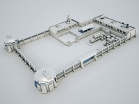 Scifi military base02 3D Model