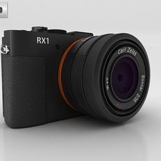 Sony Cyber-shot DSC-RX1 with inside parts 3D Model