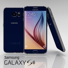 Samsung Galaxy S6 Sapphire Black 3D Model