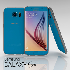 Samsung Galaxy S6 Topaz Blue 3D Model