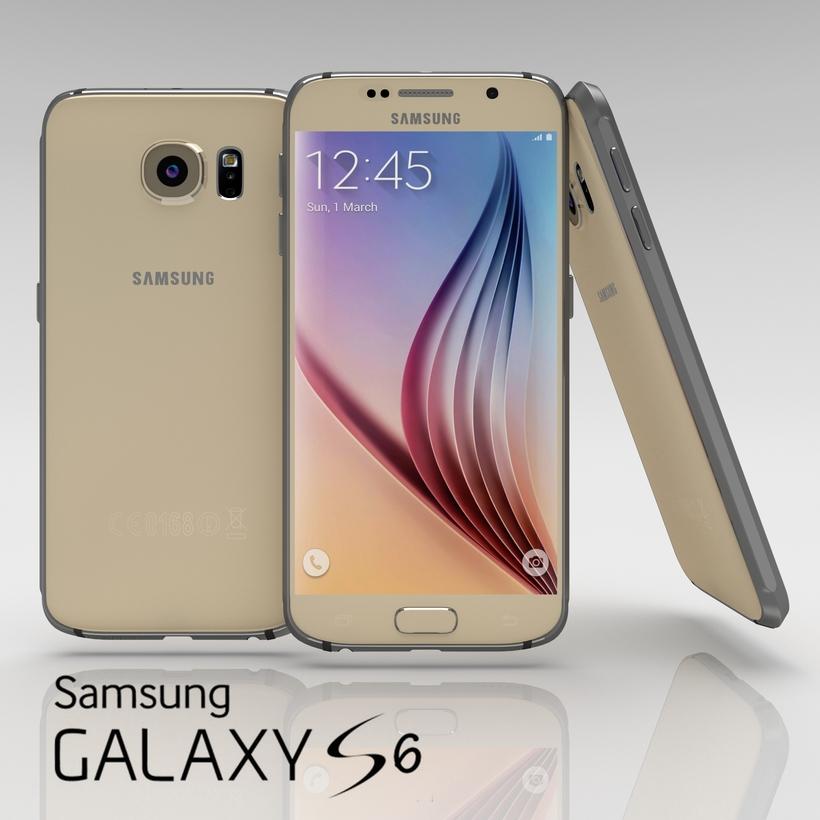 Samsung Galaxy S6 Gold Platinium 3D Model