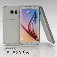 Samsung Galaxy S6 White Pearl 3D Model