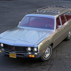 Ford Torino Wagon 1971 3D Model