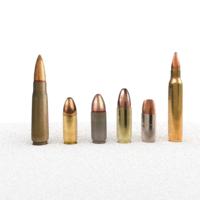 Bullet low-poly 3D Model