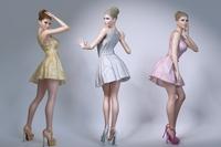 Beautiful blond woman wearing a skirt 3D Model