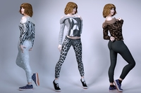 Girls wear casual 3D Model