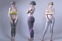 Woman wearing sportswear 3D Model