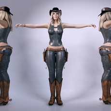 Cowgirl 3D Model
