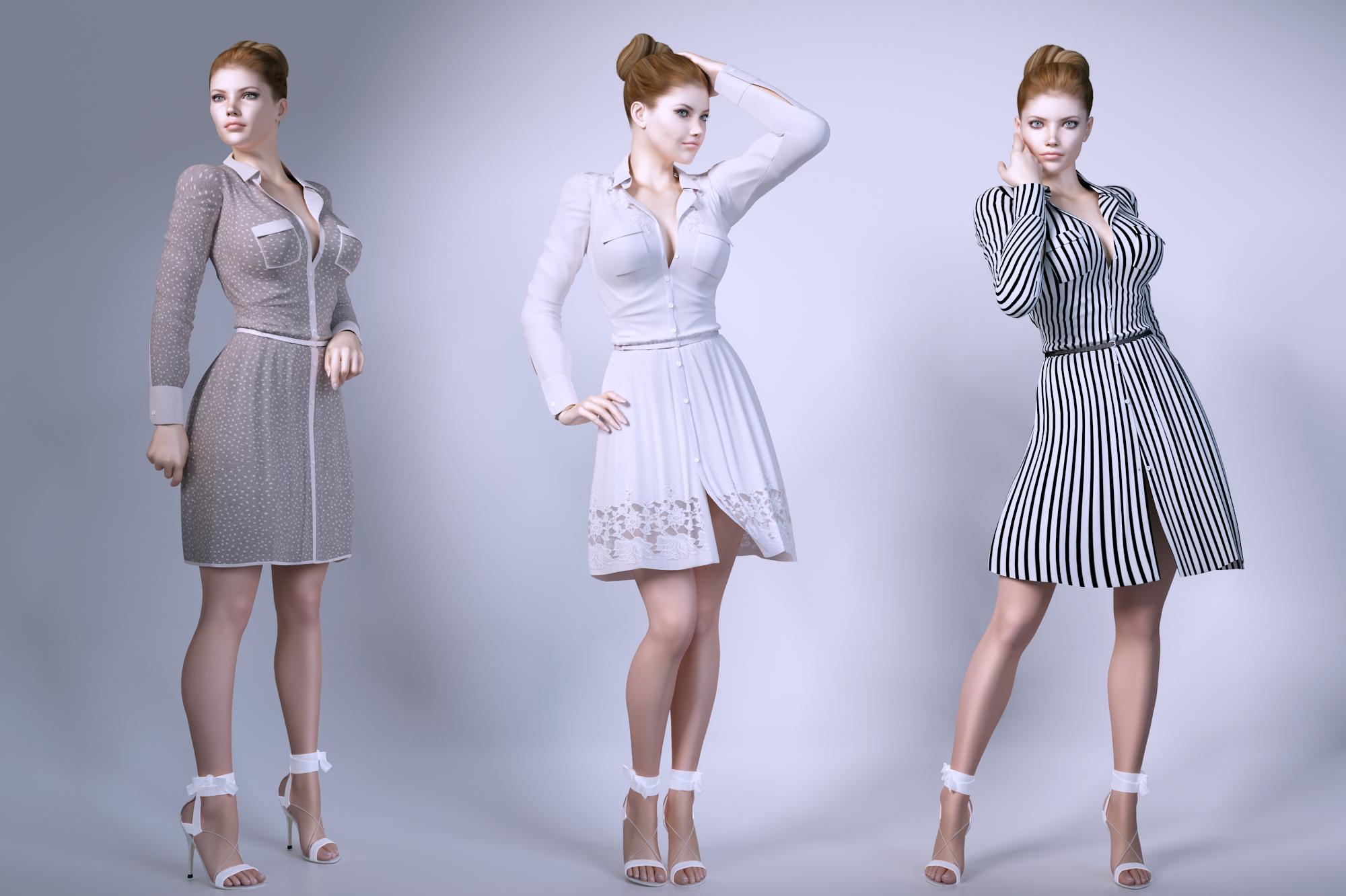 Women wear dresses 3D Model
