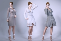 Women wear dresses 3D Model