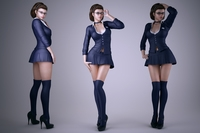 Schoolgirl 3D Model