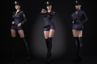 A woman wearing a police uniform 3D Model