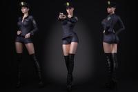 A woman wearing a police uniform 3D Model