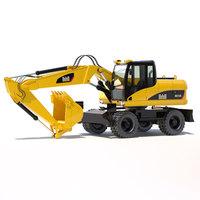 Wheel excavator 315D-316D 3D Model
