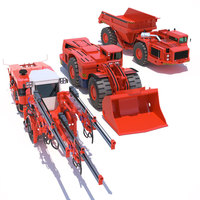 Collection Mining Machines 5 3D Model