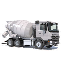 Mercedes Actros Cement Mixer 3D Model