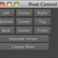 Pivot Control for Maya 1.0.0 (maya script)