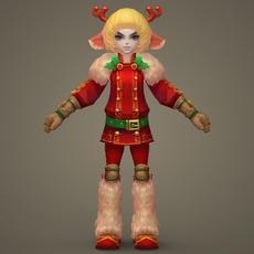Toon character Roya 3D Model