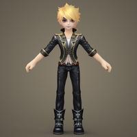 Toon character Kenshi 3D Model