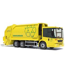 Mercedes Econic Garbage Truck 3D Model