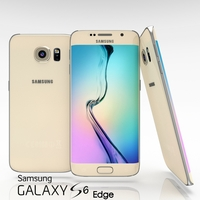 Samsung Galaxy S6 Edge Gold Platinum 3D Model