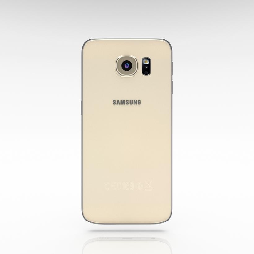 Samsung Galaxy S6 Edge Gold Platinum 3D Model