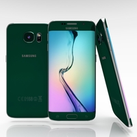 Samsung Galaxy S6 Edge Emerald Green 3D Model