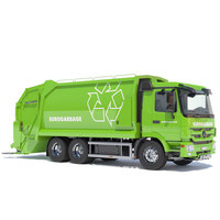 Mercedes Actros Garbage Truck 3D Model