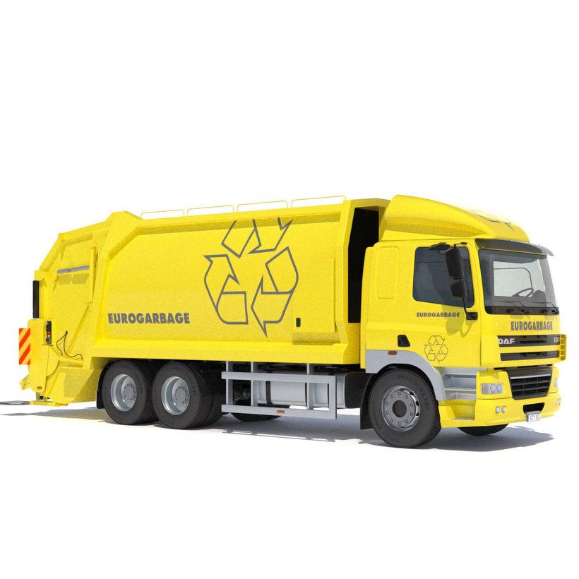 DAF CF 85 Garbage Truck 3D Model