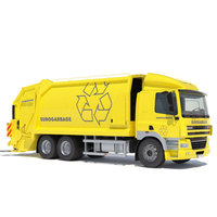 DAF CF 85 Garbage Truck 3D Model