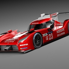 Nissan GT-R LM Nismo Race car 2015 3D Model